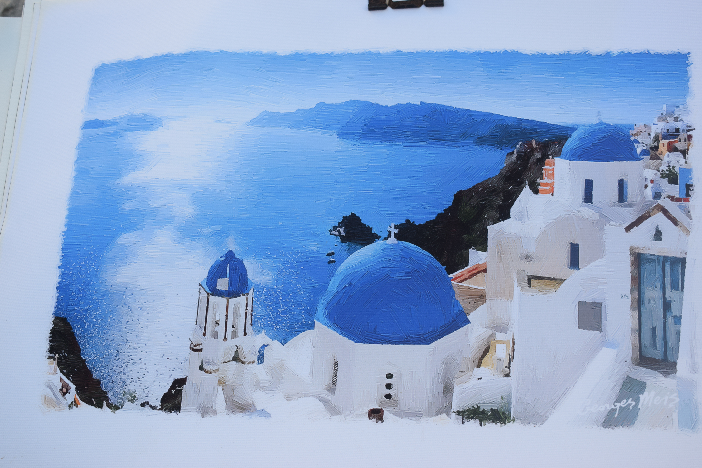 Atardecer en Santorini, Oia