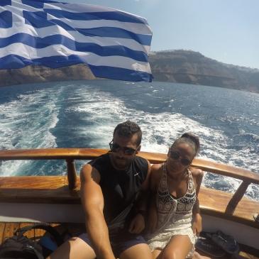 En el catamarán... camino a la Caldera